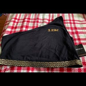➕ TuPac Logo one shoulder gold trimmed top 2X 3X